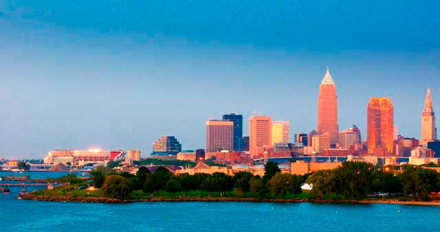 Cleveland airport (CLE) is located 9 miles (14 km) to the southwest district of Cleveland city.